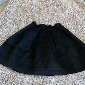 Express Black fit and flare skirt